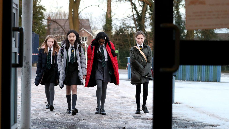 Pupils in Cheshire going back