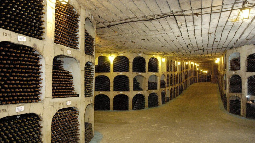 Wine cellar in Moldova
