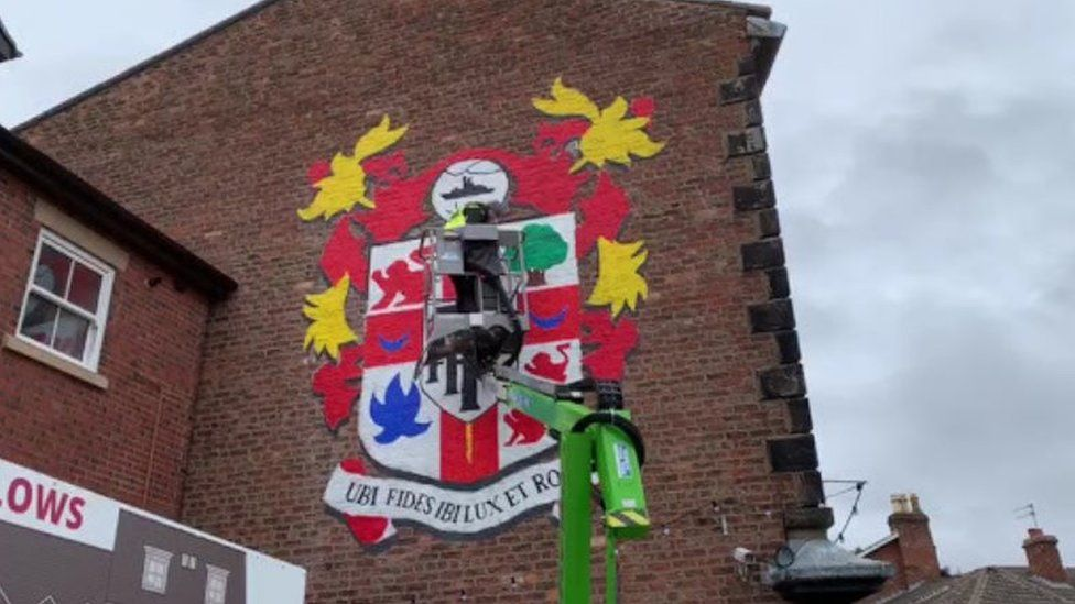 Tranmere Rovers mural in Oxton