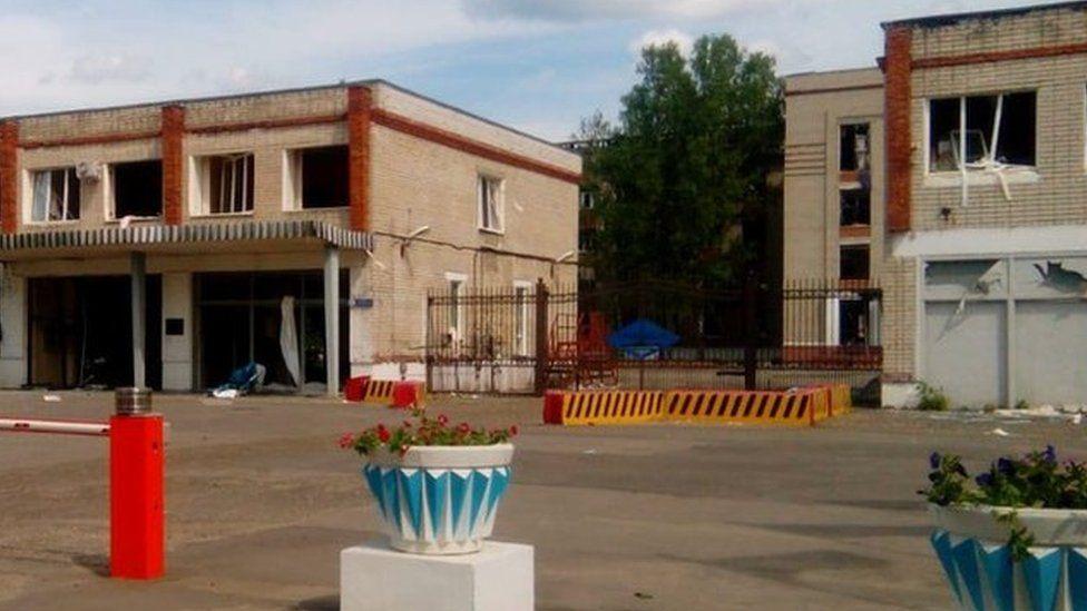 Buildings near site of explosion in Dzerzhinsk