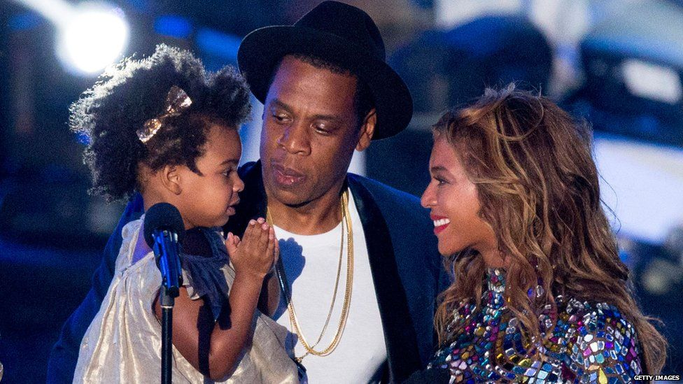 Jay-Z, Beyonce and their daughter Blue Ivy