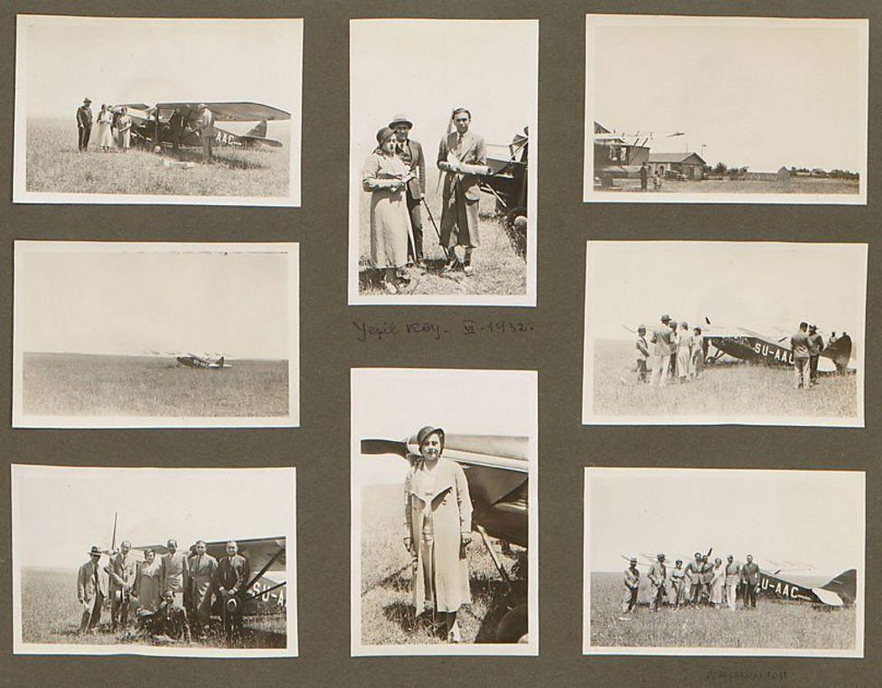 1932 yılında uçaklar havalanmadan önce ve havadayken, uçakların yanında çekilmiş fotoğraflar.