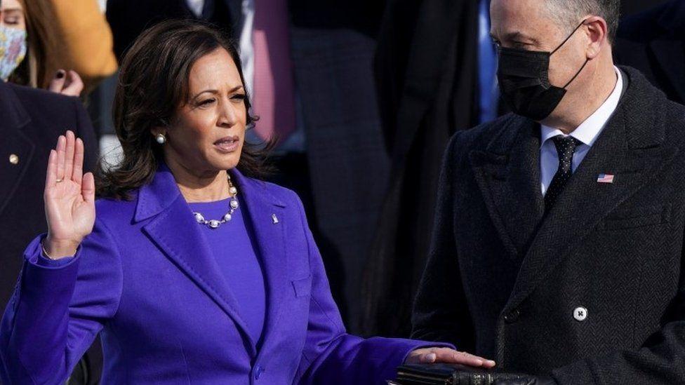 Harris takes oath