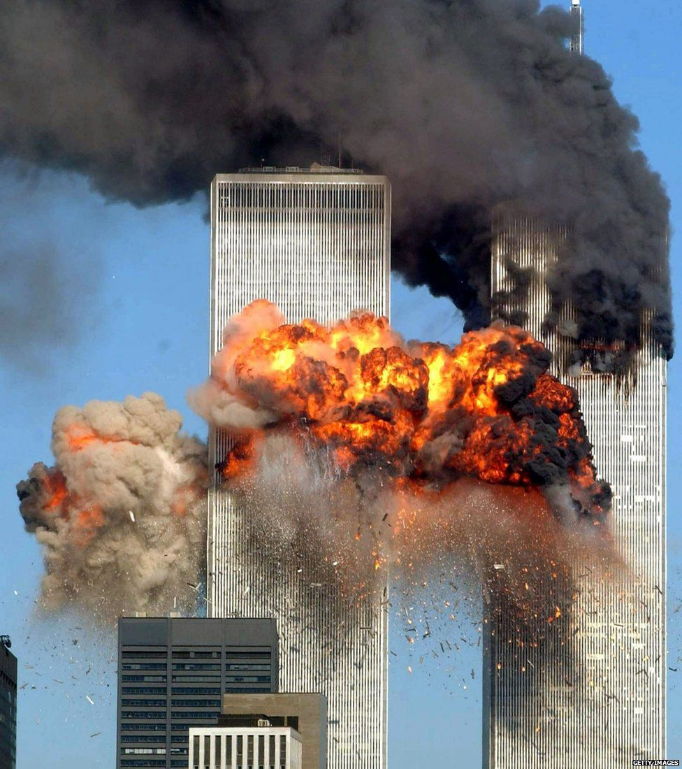 World Trade Centre towers are attacked