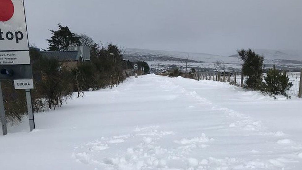 Snow in Brora