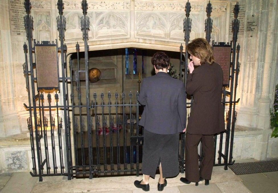 Vault where George VI and Queen Elizabeth are interred, alongside Princess Margaret