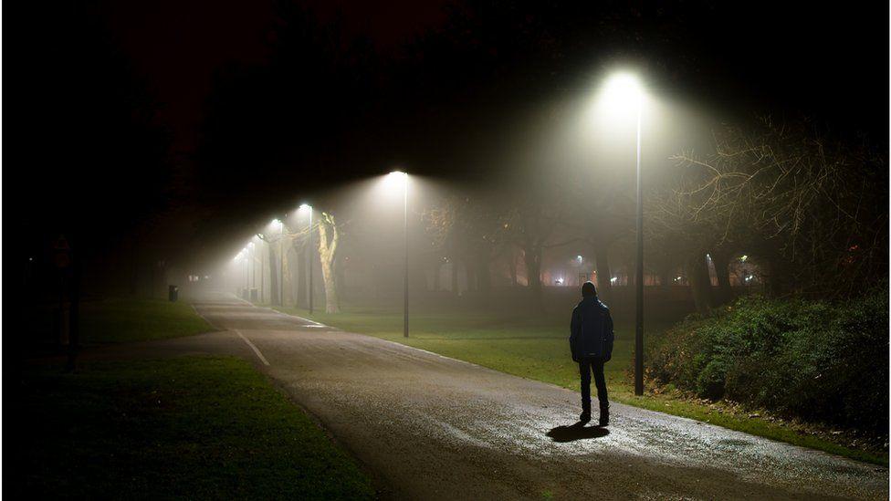 stock image of man walking