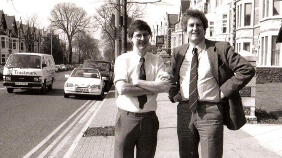 Mark Drakeford and Rhodri Morgan