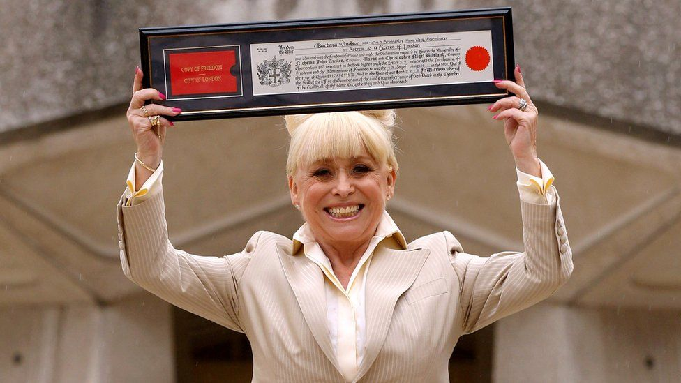Barbara Windsor with her freedom of the City of London