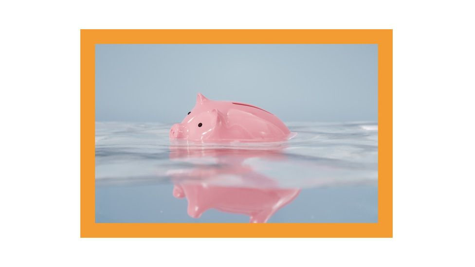 A pinky bank floating