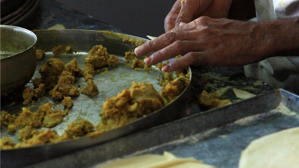 Stuffed samosas from Jodhpur in Rajasthan, north-west India