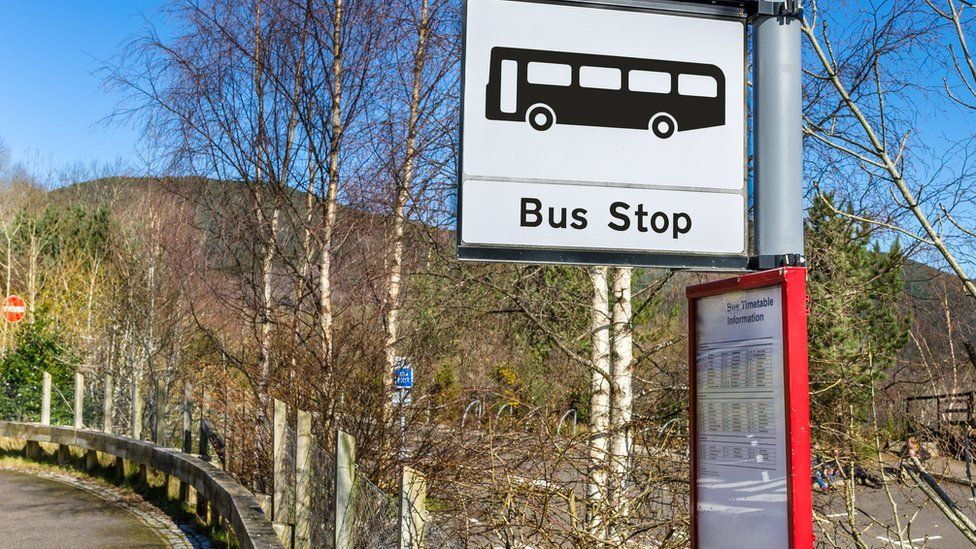 sign for rural bus stop