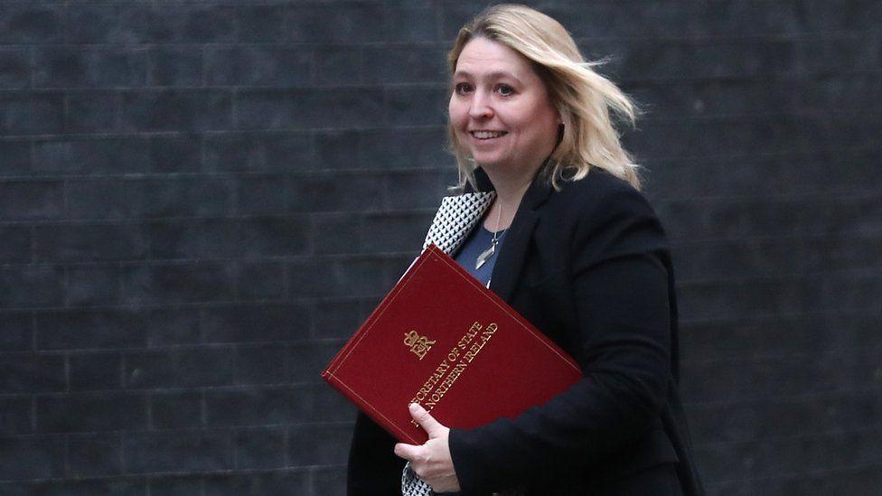 Karen Bradley arriving in Downing Street on Tuesday