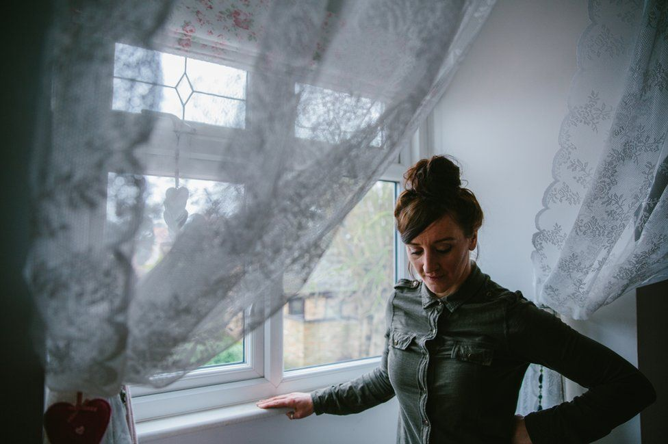 Kath Sansom, a journalist from Cambridgeshire, pictured at home.