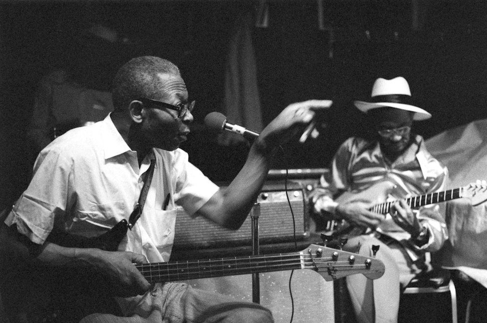 Arkansas bluesman Floyd Jones at B.L.U.E.S, 1979