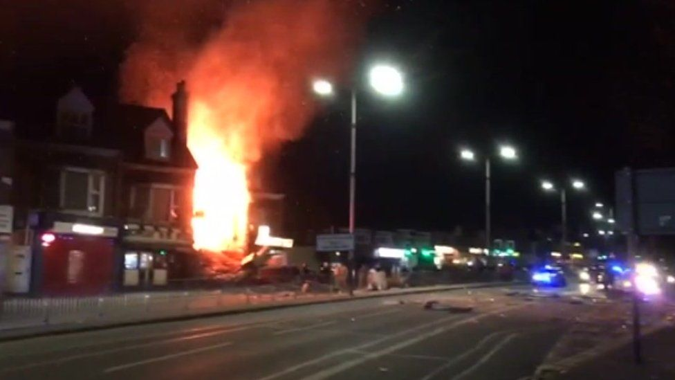 Shop explosion