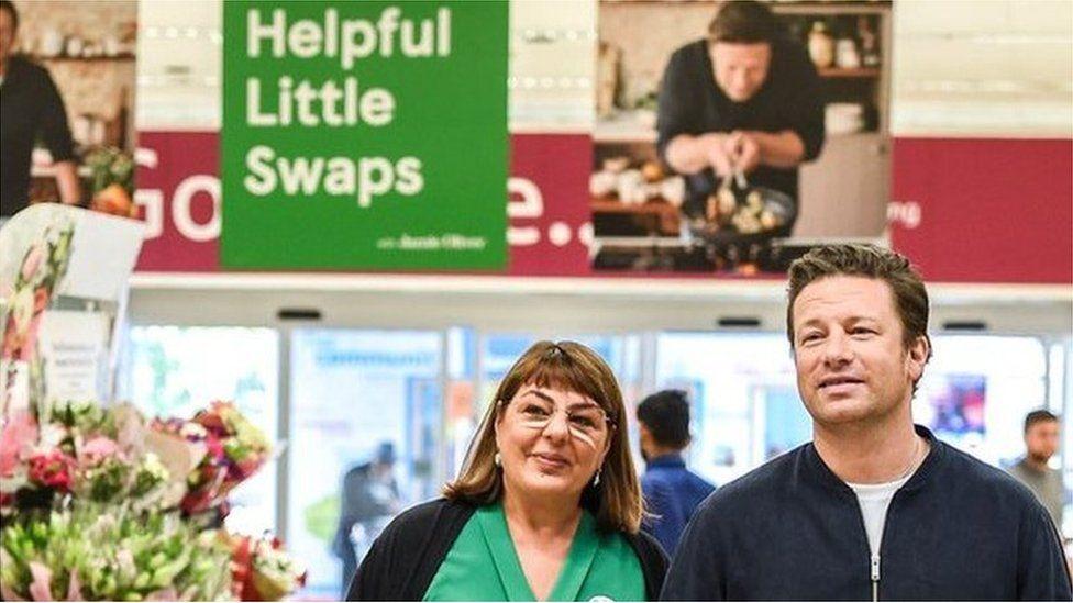 Jamie Oliver in Tesco