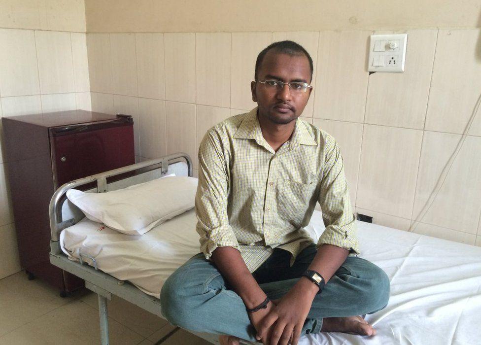 Saurav Kumar in hospital