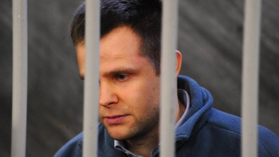 Lukasz Herba pictured in the courtroom during his trial in December 2017
