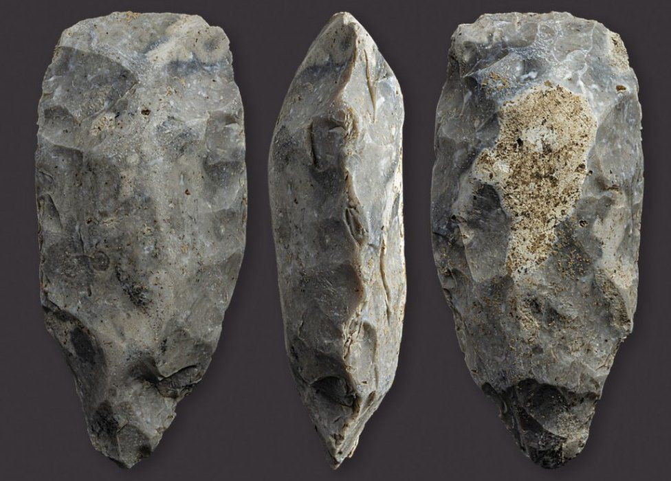 A Neolithic axe head found in Dorset AONB