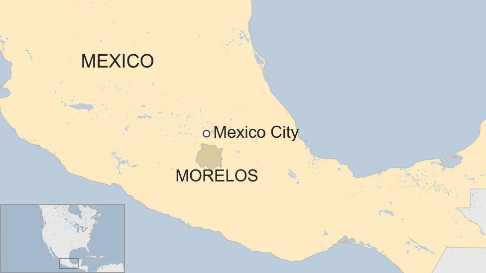 Map of Morelos in Mexico