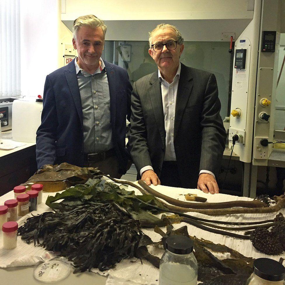 Dr Mark Dorris (left) and David Mackie of Marine Biopolymers Ltd (MBL)