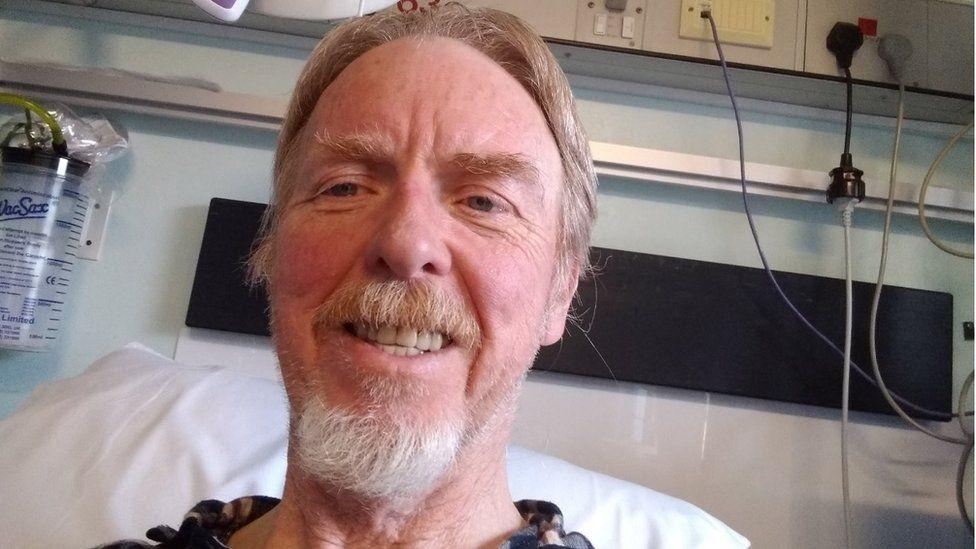 Stewart Boyle in hospital.