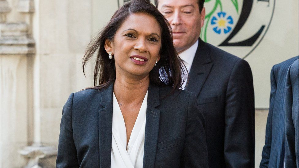 Gina Miller outside the Supreme Court