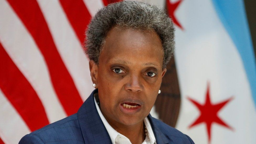 Chicago's Mayor Lori Lightfoot speaks during an event at the University of Chicago in July 2020