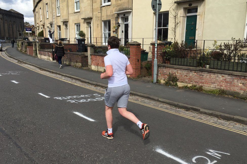 Coronavirus: Bristol street lines to 'urge runners off pavement ...