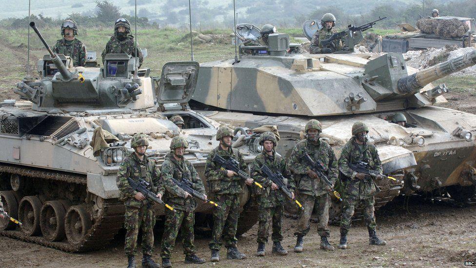 An army exercise on Salisbury Plain
