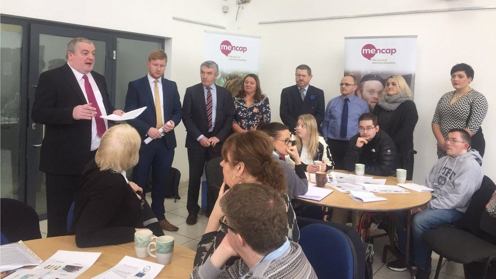 Election candidates at the Mencap hustings