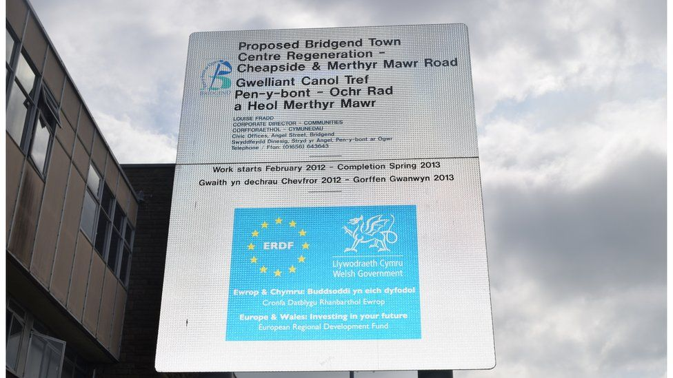 Bridgend received EU funding to redevelop part of the town in 2012