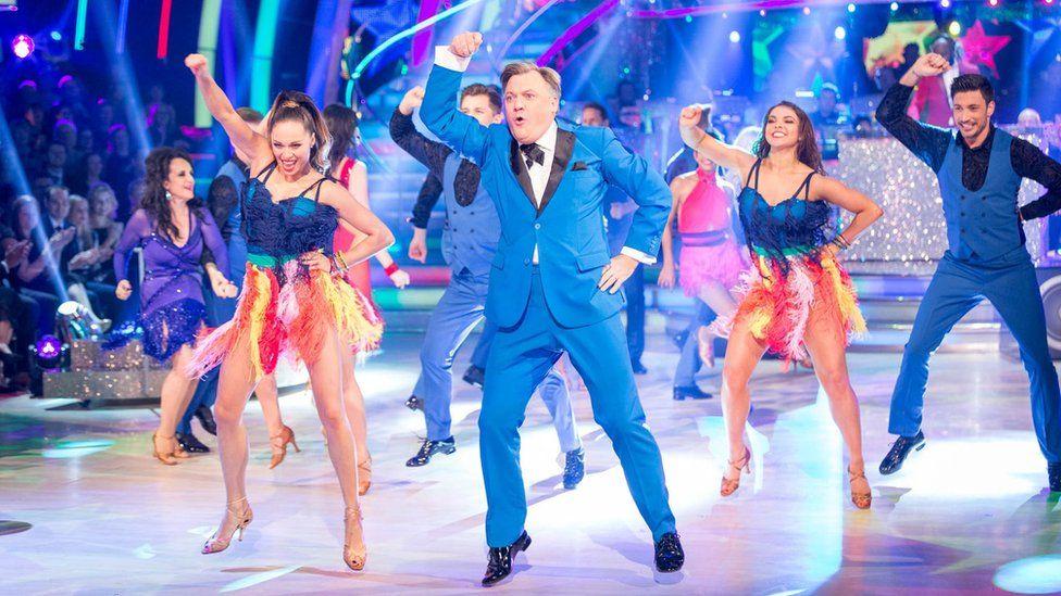 Ed Balls and dancers