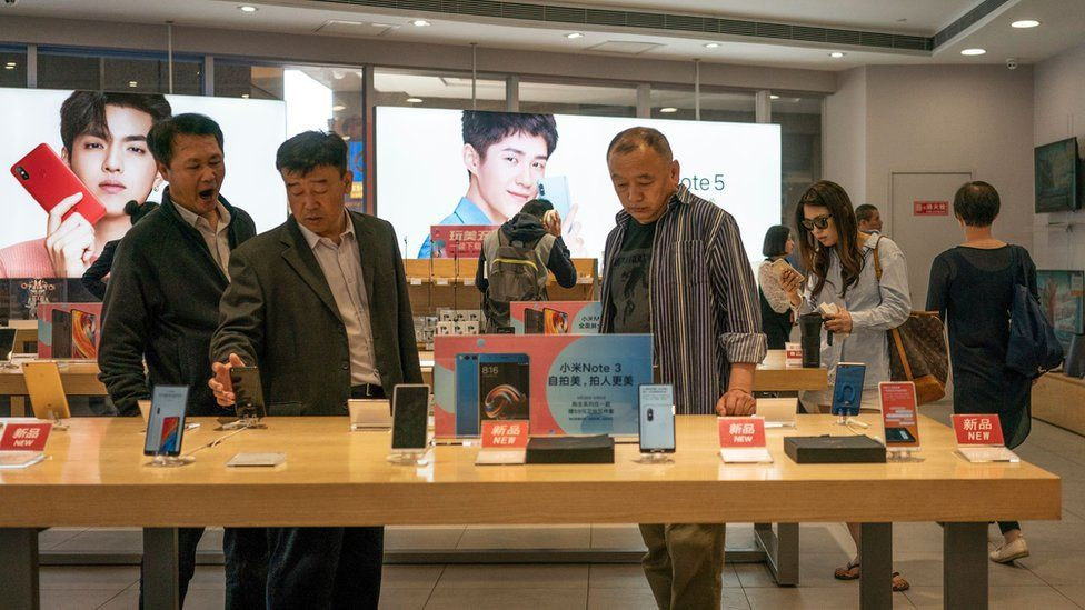 A phone store in China