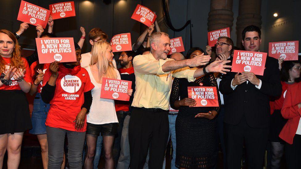 Jeremy Corbyn leadership rally