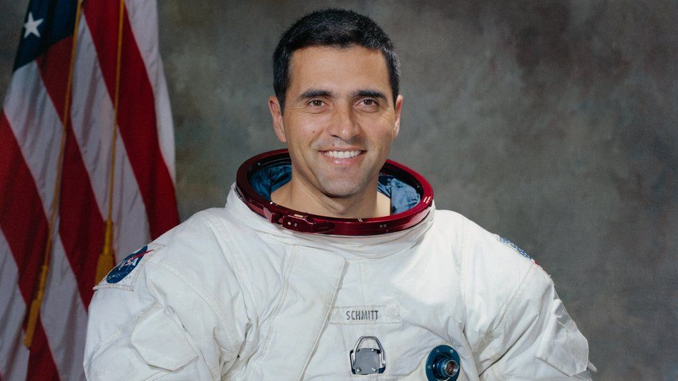 US astronaut Harrison Schmitt, who was part of the Apollo 17 space mission in December 1972, picture from 1971