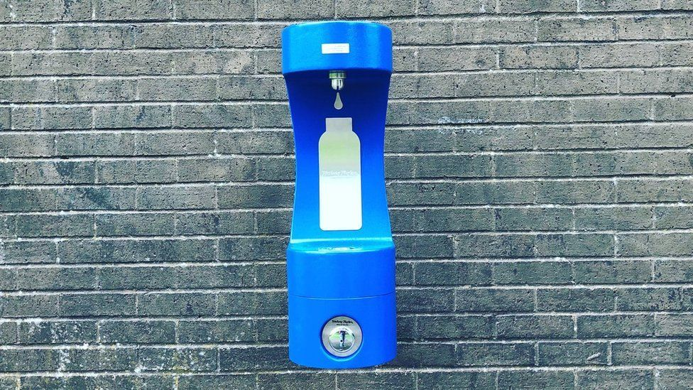 New water fountain at Romilly Park, Barry