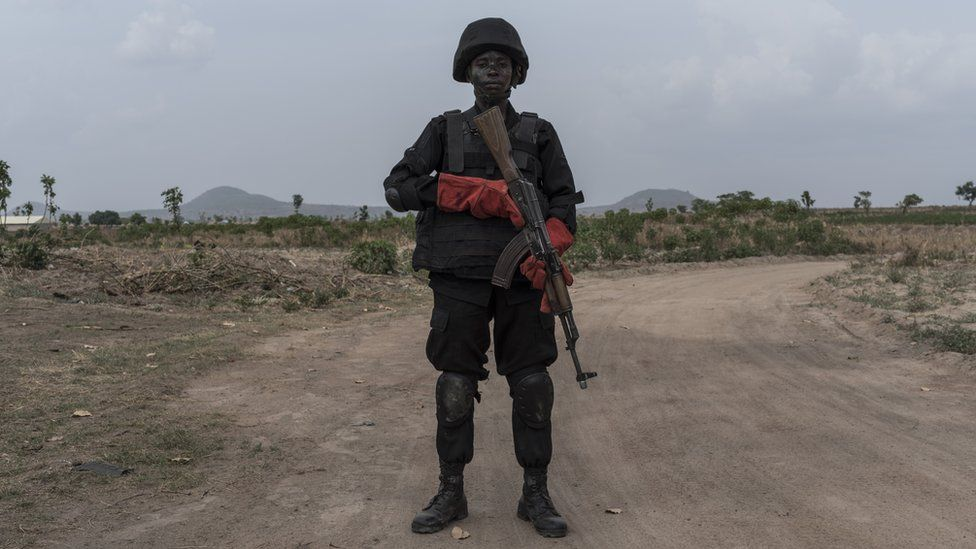A woman in the Nigerian special forces