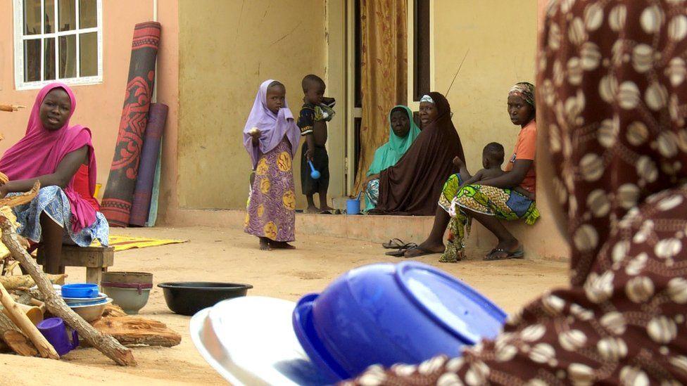 Kidnap survivor, Zara, in her village
