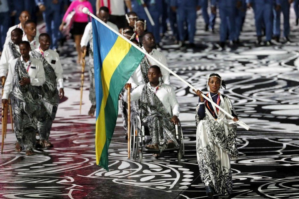 Rwanda team at Commonwealth Games
