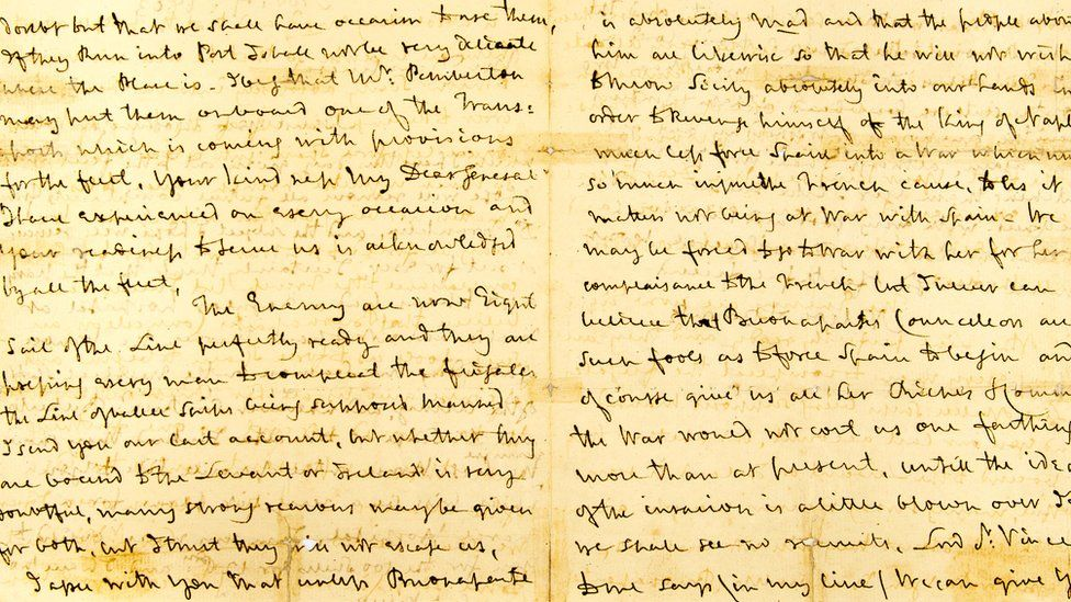Hansons Auctioneers Lord Horatio Nelson letters Derbyshire