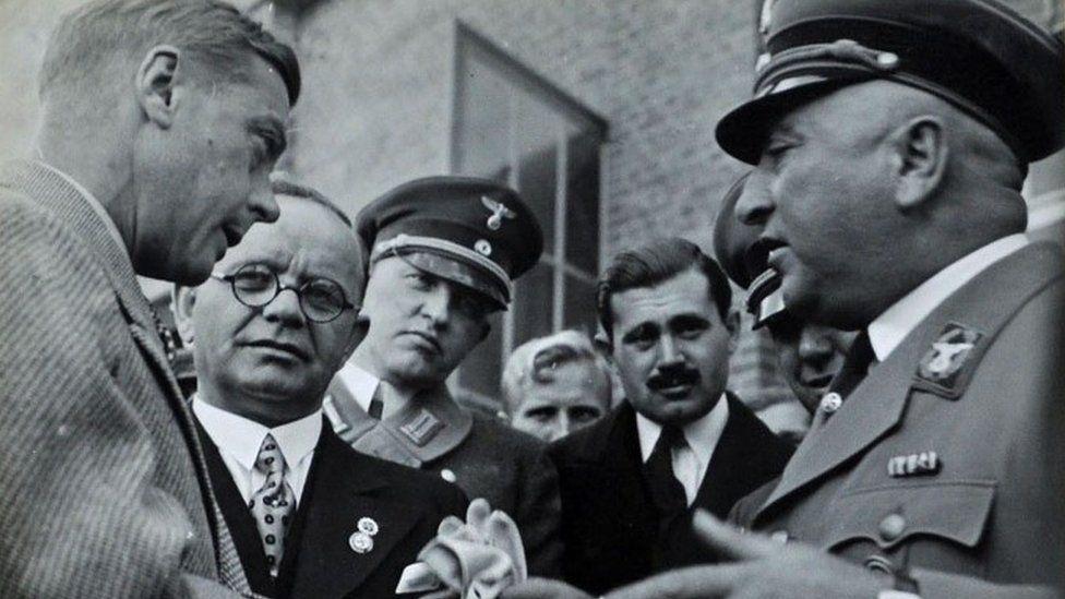 Duke of Windsor, Herr Kaps, Herr Kiehl, DRF and Dr Ley