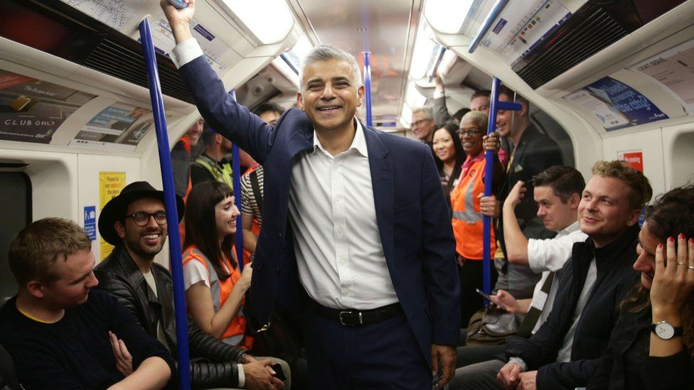 Sadiq Khan at the launch of the Night Tune