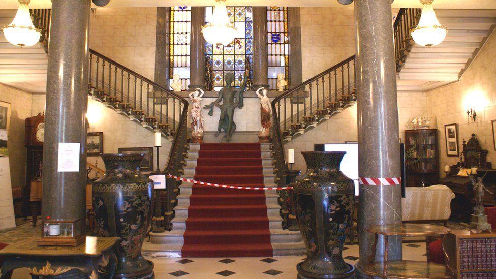 Main stairs in Plas Glynllifon after restoration