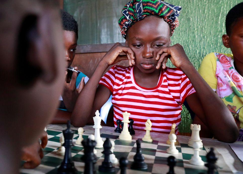 Children play chess in Makoko, Lagos, Nigeria - Wednesday 5 May 2021