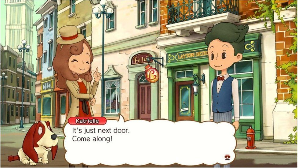 A still from the Professor layton game