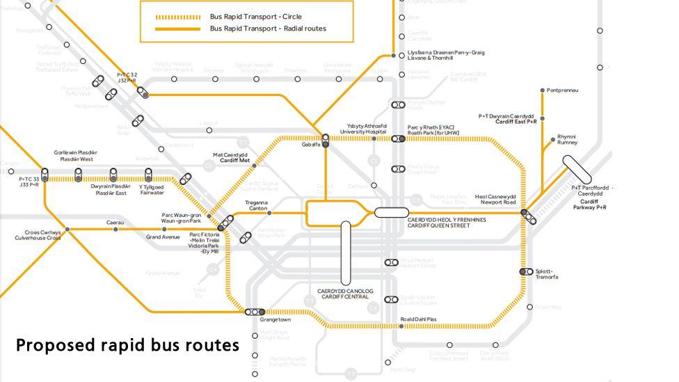 Rapid bus map