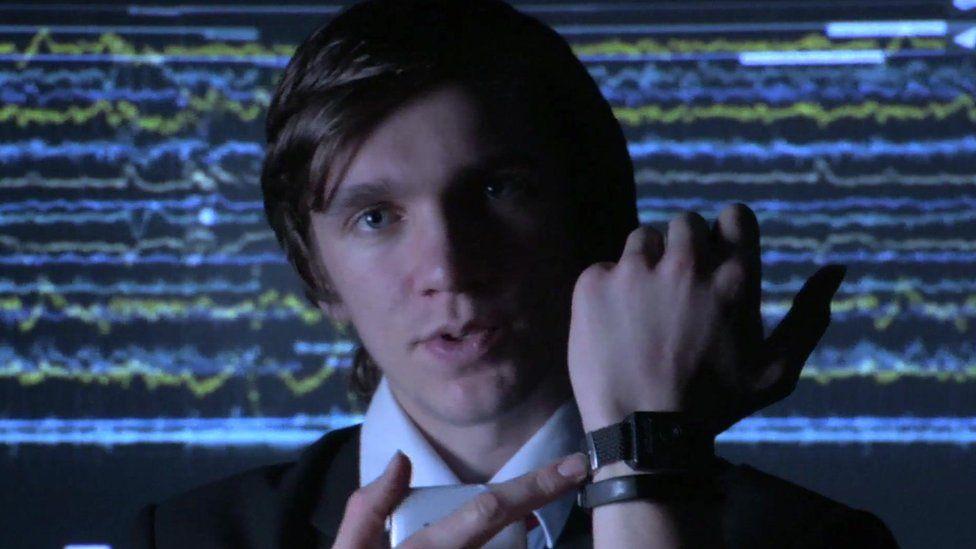 wristband on Chris