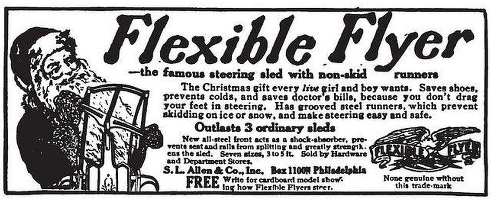 Advert for sled